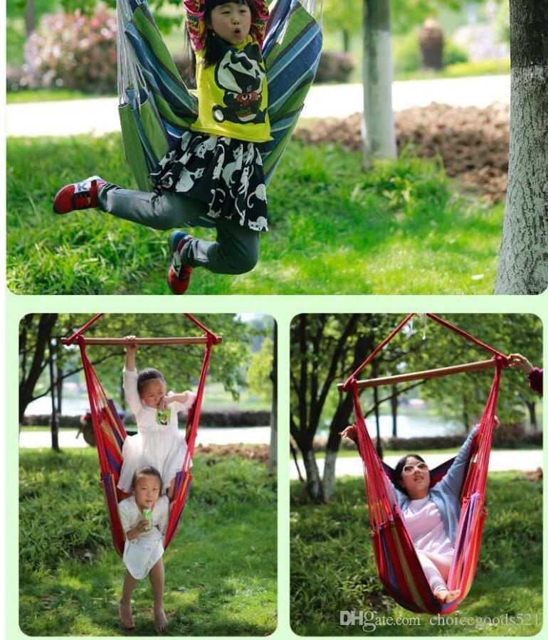 2019 Garden Patio Porch Hanging Cotton Rope Swing Chair Seat Hammock