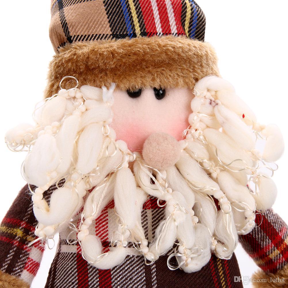 Presente de natal Papai Noel Boneco de Neve Rena Boneca navidad Decorações De Natal para Casa Xmas Árvore Pendurada Ornamentos Pingente de Presente