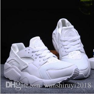 New Cheap Air Huarache Casual Shoes For Women And Men, Brand Breathable Huaraches Tyrant gold couple shoes Trainers Size EUR36-45