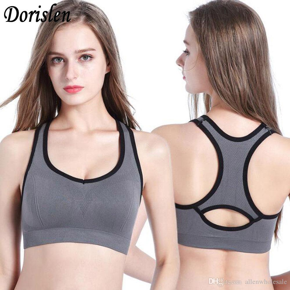 9fffea839a 2019 Women Racerback Sports Bras Padded Seamless High Impact Support For Yoga  Gym Workout Fitness Underwear From Allenwholesale