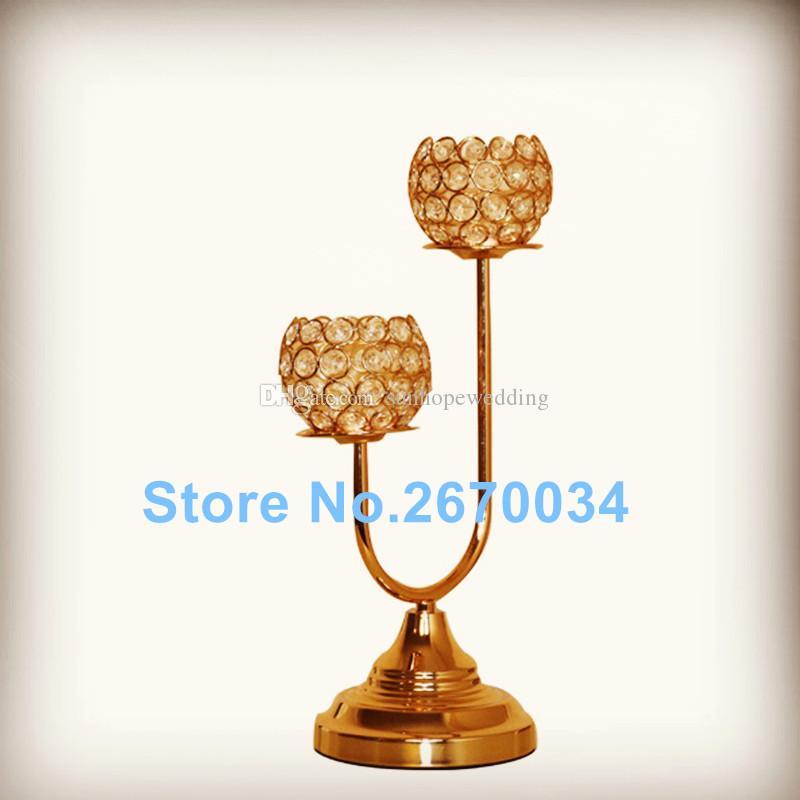 Nuevo candelabro de cristal de diseño con candelabro de cristal de diamante