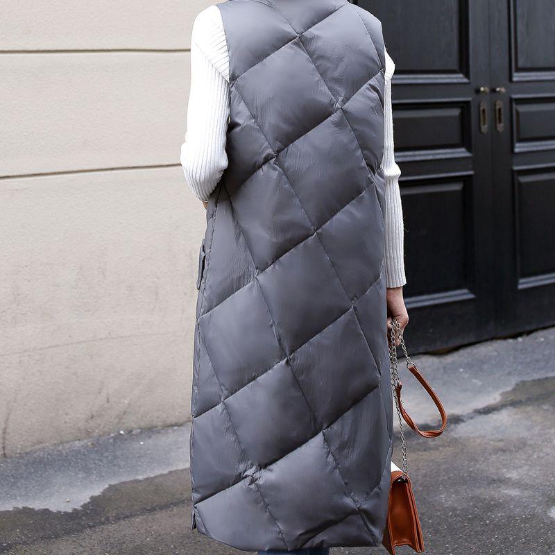 MissFoFo 2017 New Autumn Vest Winter Down Jacket Thin Fashion Yellow Parka Taglia S-L Brand
