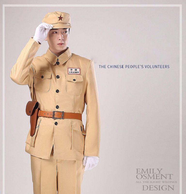 Compre China Oficial De La Ropa Militaty Tradicional Ejército Kuomintang  Uniforme PLA Oficial Soldados Del Ejército Traje Etapa Segunda Guerra  Mundial ... a5c459f5ff060