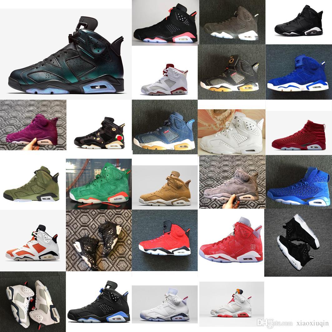 timeless design 986a8 9b7b9 Acheter Bon Marché Mens Retro 6s Chaussures De Basket À Vendre Caméléon  Infrarouge Noir Oreo Green Glow Aj6 Jumpman Vi Baskets De Vols Aériens  Bottes J6 ...