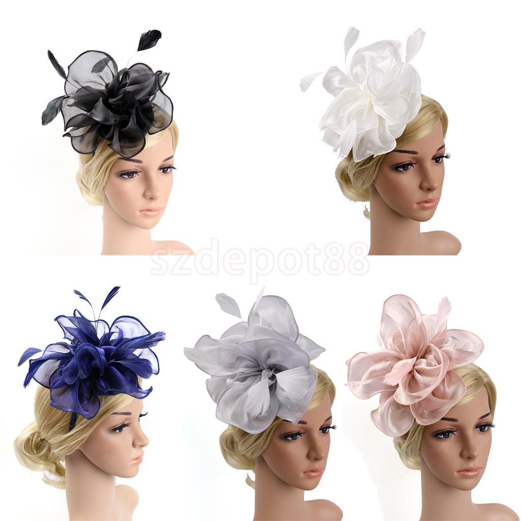 ac2621cc174 Lady Flower Fascinator Hat 1920s Gatsby Bridal Headband Cocktail Party Black  Jeweled Hair Accessories Jeweled Hair Pieces From Hilarye