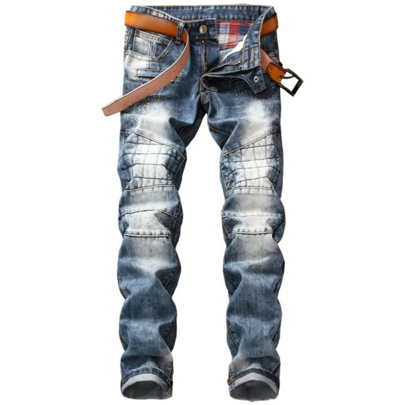 43d1fdf82c0b8 2019 2018 Mens Skinny Fashion Jean Distressed Slim Elastic Jeans Denim  Biker Jeans Hip Hop Pants Washed Ripped Plus Size From Rachaw
