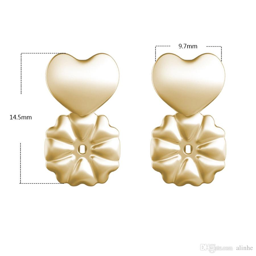 Fashion Magic Bax Earring Backs Support Earring Lifts Fits all Post Earrings Gold Plated Sterling Silver with retail box