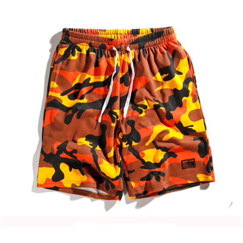F O G Kanye West Orange Camouflage Shorts 2018 Summer Men Camouflage Camo  Shorts Punk Rock Dance Pocket UK 2019 From Hognyeni bfca16500d1