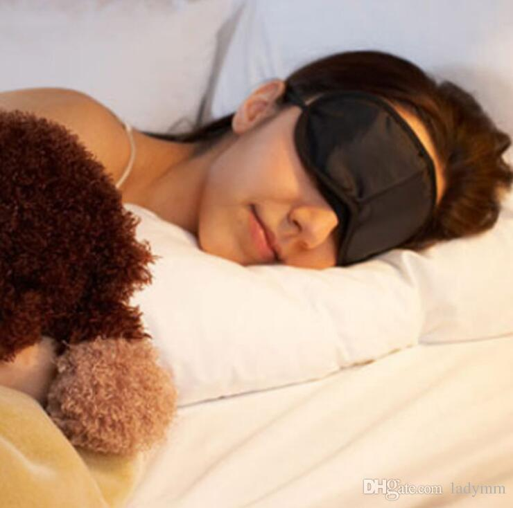 Sleep Mask Eye Mask Shade Nap Cover Blindfold Sleeping Sleep Travel Rest Fashion Wholesale Black Colors