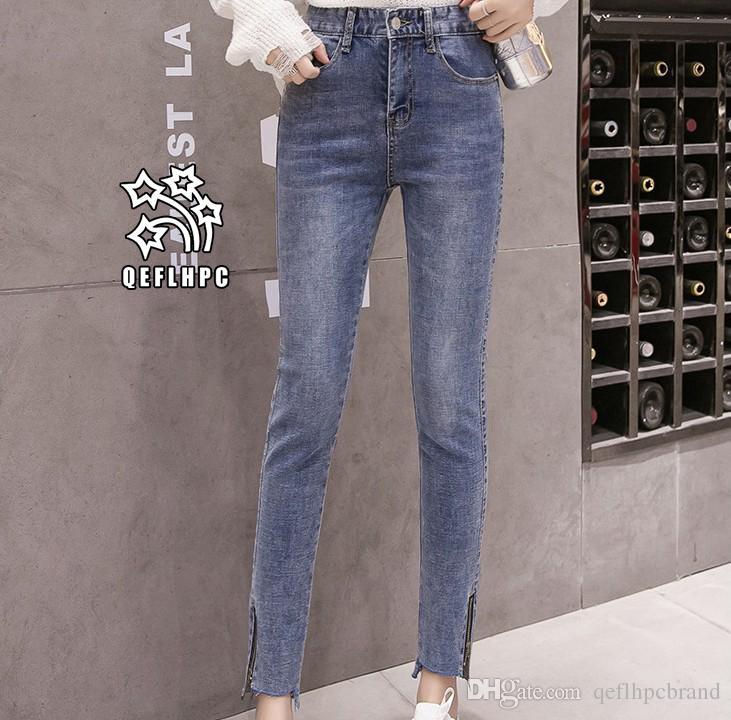 52fc890584f Ladies Sexy Skinny Jeans Women High Waisted Slim Fit Denim Pants Slim Denim  Straight Biker Skinny Ripped Jeans Pencil Pants Trousers A8317  Women  Clothing ...