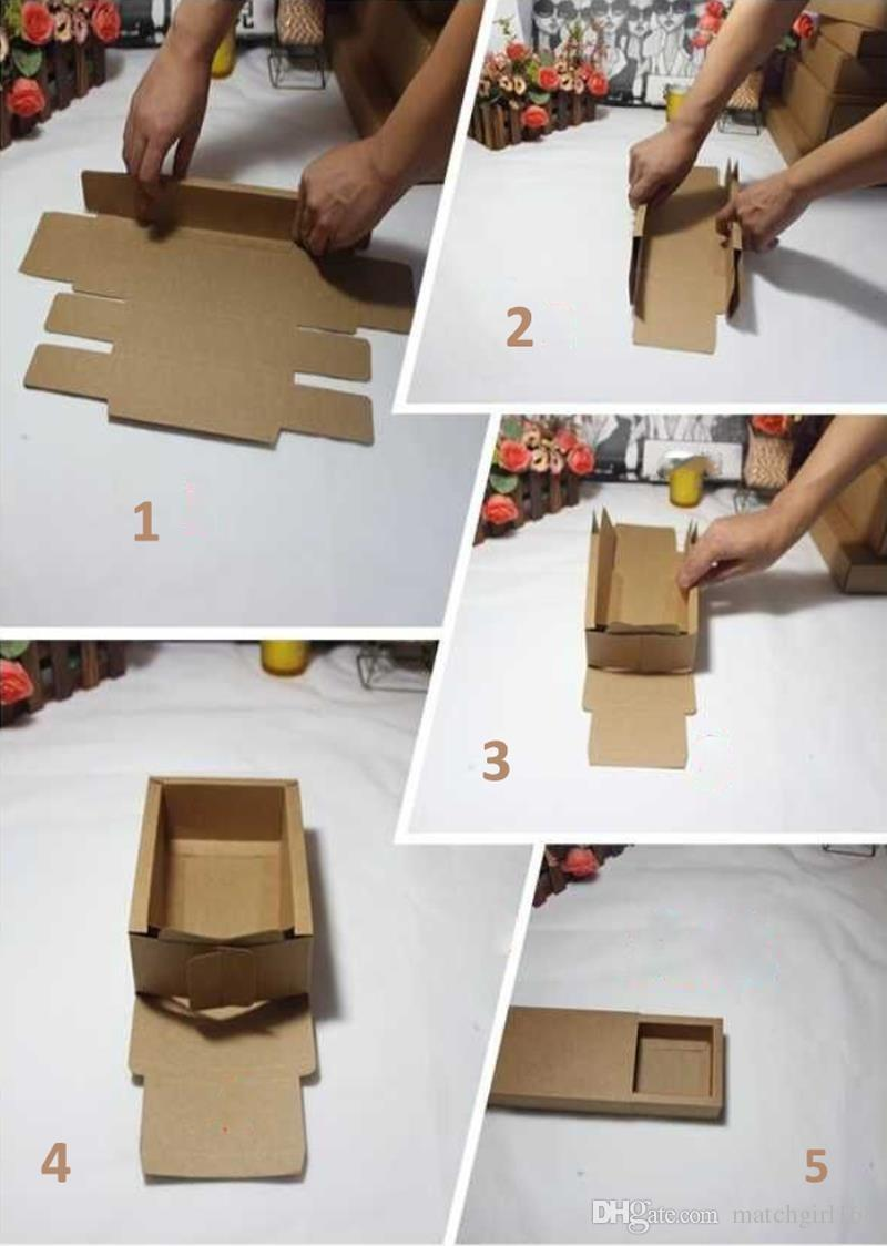 Frosted PVC Cover Kraft Paper Drawer Boxes DIY Handmade Soap Craft Jewel Box for Wedding Party Gift Packaging