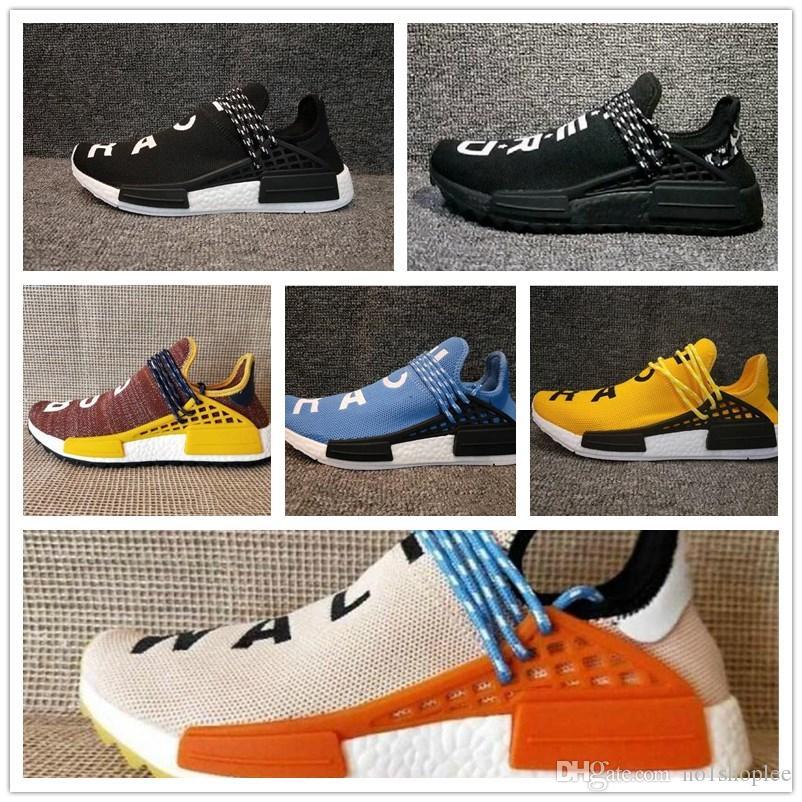 5042e1b7f 2017 Pharrell Williams HUMAN RACE Yellow Red Black Blue Grey Green White Men  Women Classic Sport Sneakers Eur 36-45 Human Race NMD Pharrell Williams X  Boost ...