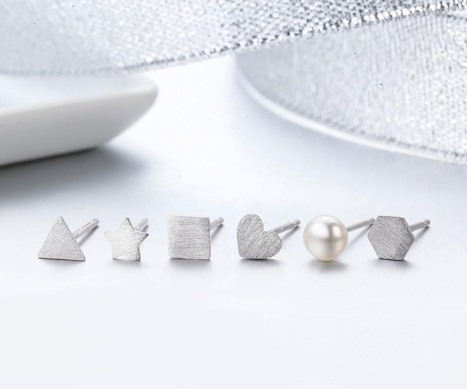 5db1d15e3 2019 Cute Slim Tin Geo White Pearl 925 Sterling Silver Stud Earrings For  Women Children Girls Kids Jewelry Gift Pequeno Aros From Xiajishi, $39.53 |  DHgate.