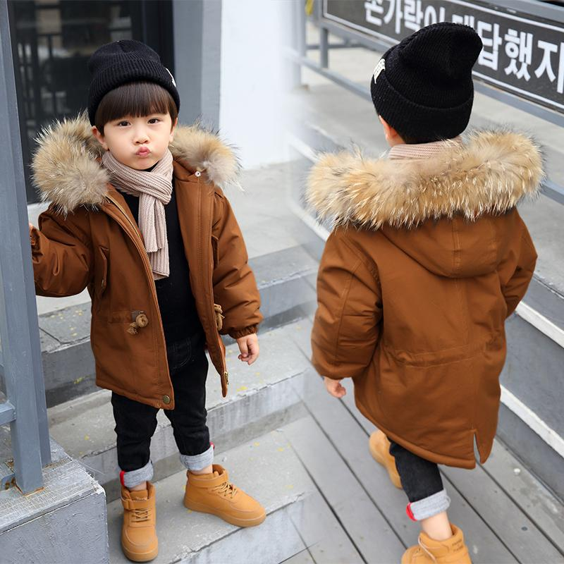 28f0fb29a122 Russia Winter Coats For Kids Boys Outwear Jacket Snow Wear Fur Collar Thick  Warm Children Parkas Down Cotton Padded Boy Overcoat Winter Coats Boys Kid  Coat ...