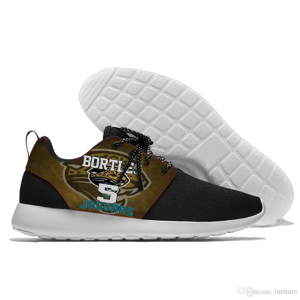 the best attitude d2d6c cd7c8 2018 Lace Up Sport Shoes Jugadores De Jaguars Cómodos Bortles Y Campbell  Logo Jacksonville New Style Zapatillas De Deporte Para Hombres Y Mujeres  Por Lunhum ...