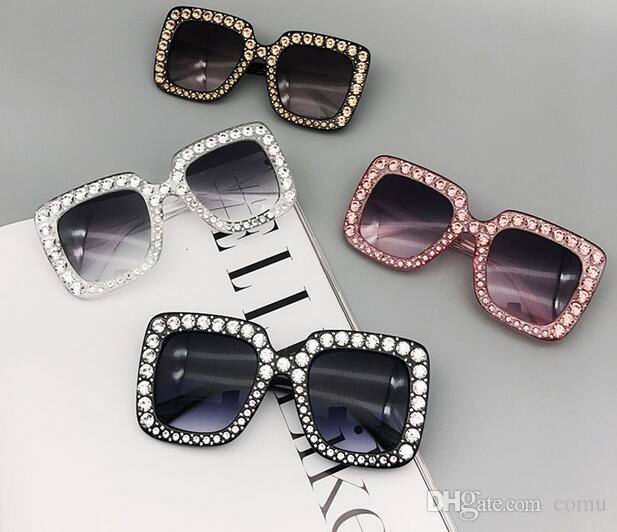 4e882974af3 G0148 Luxury Brand Sunglasses 0148 Large Frame Elegant Special Designer  with Diamond Frame Built-In Circular Lens Top Quality Come With Case Online  with ...