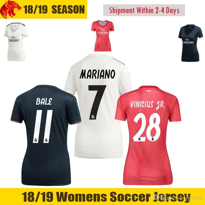 6e9762e90 Acquista 17 18 Real Madrid Womens Soccer Maglie 2017 2018 RONALDO Woman  Maglia Da Calcio KROOS BENZEMA Female Soccer Shirt SERGIO RAMOS Girls Jersey  A  13.2 ...