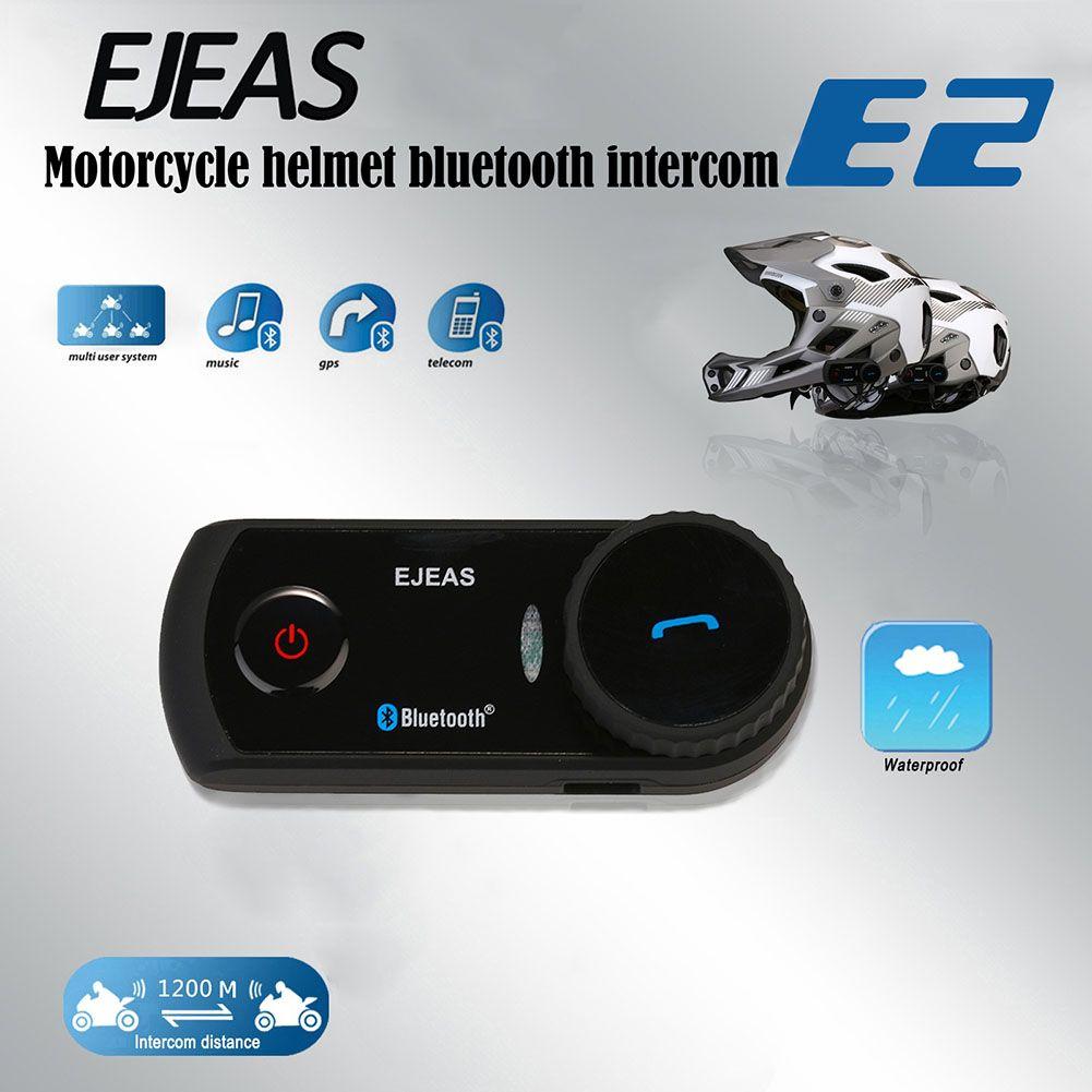 Ejeas E2 Bluetooth 3.0 Wireless 4 Riders Motorcycle Helmet Intercom ...
