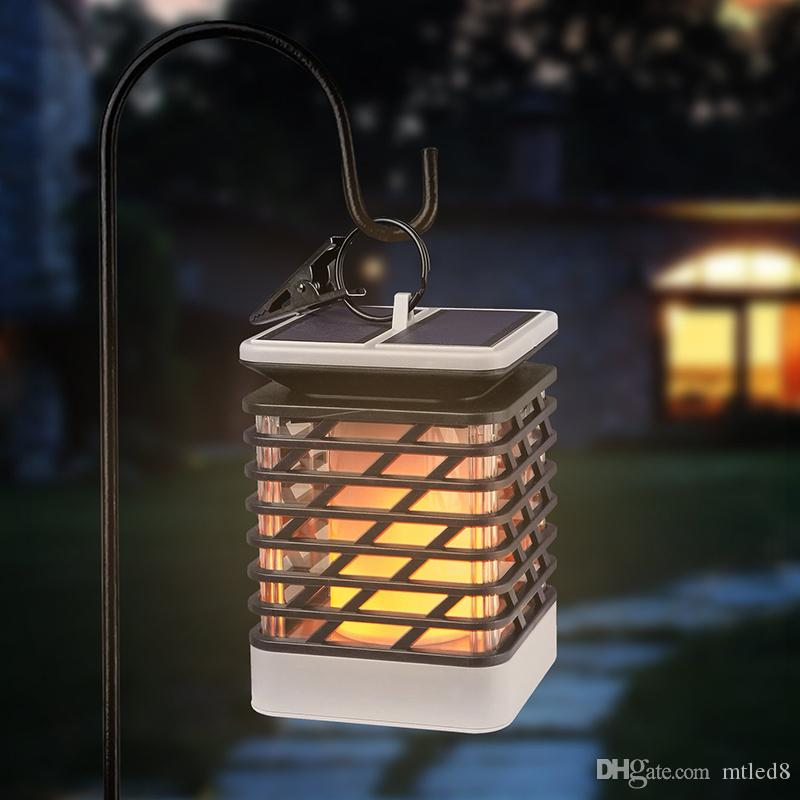 75 LED Garden Solar Light Flame Flickering Solar Panel Power Lawn Lamp Outdoor Pathway Landscape Decoration Luci della torcia