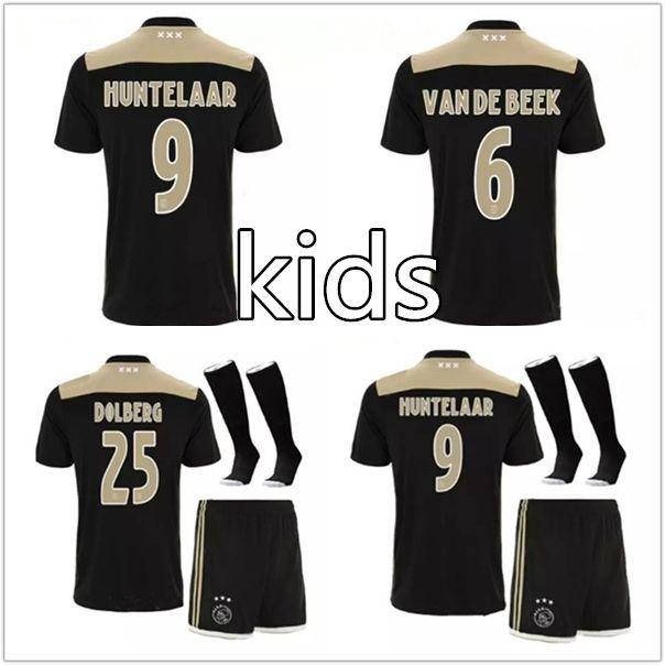 a9f09a84b Ajax Kids Kit Soccer Jersey 18 19 Ajax FC Soccer Away Shirt 2018 ...