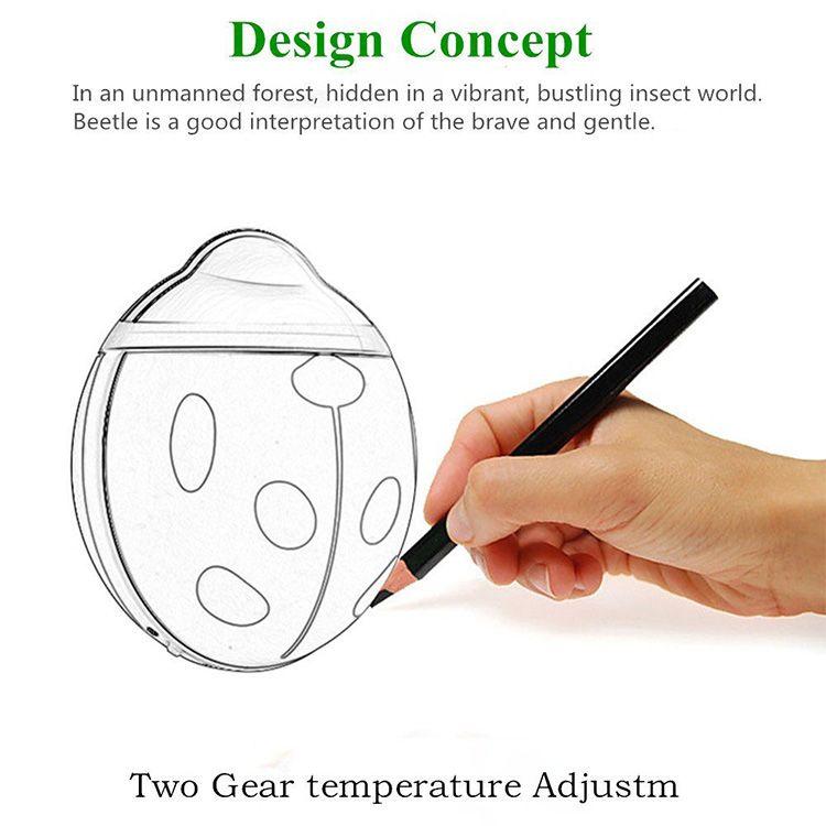Nuovo scaldamani Beetle Scaldamani portatile a mano ricaricabile Scaldamani elettrico USB Scaldamani portatile 3500 mAH
