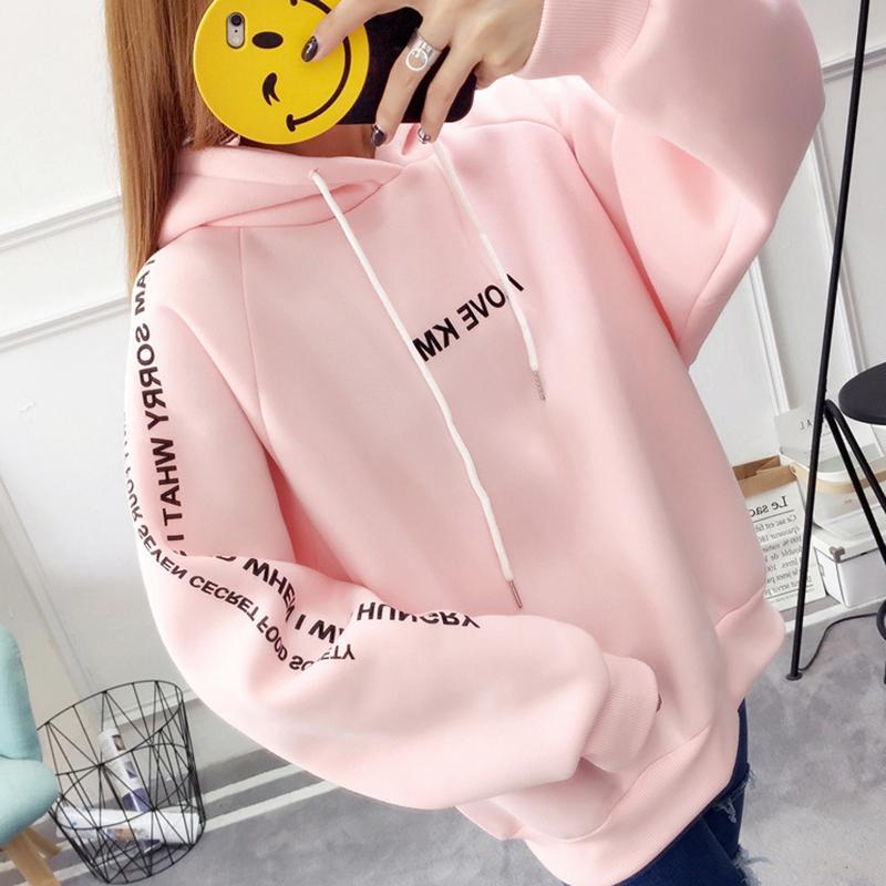 9c043afff2a407 Sweatshirt With A Hood Pink Women Female Clothing Women s Hoodies ...