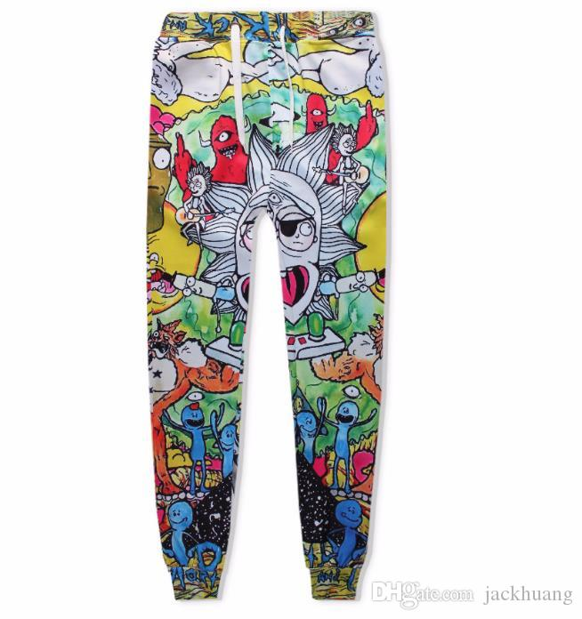 14a2ec87257106 2019 Rick And Morty Print Pants Men Women Baggy Joggers 3D Print Cartoon  Fashion Sweatpants Hip Hop Trousers From Jackhuang, $16.25 | DHgate.Com