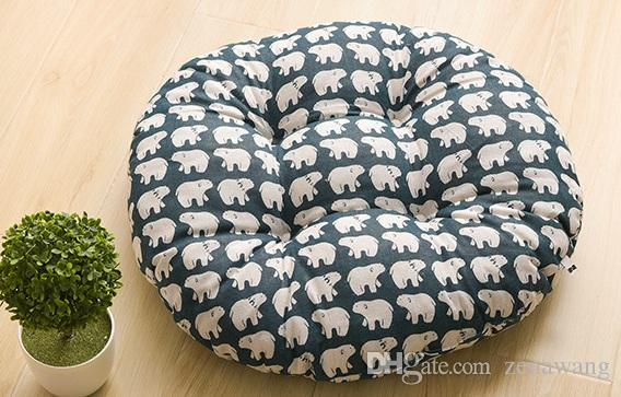 Home essential European classical office cushion dining cushion cushion Ethnic ethnic round cotton and linen futon comfortable