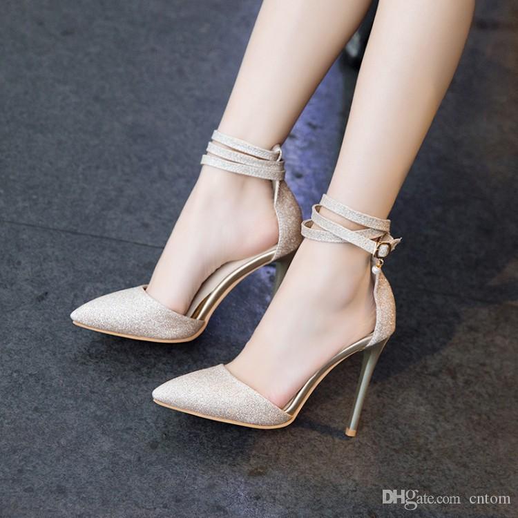 af6ab399 Compre Sandalias 2018 New Fashion Tip Zapatos De Mujer Big 40 41 42 43 44  45 46 47 48 49 Tacón Alto 11cm Pequeño 32 33 Tamaño 31 50 A $41.1 Del Cntom  ...