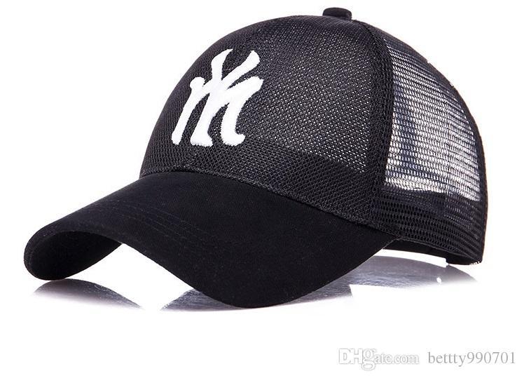 93c6884029c Mens Women Designer Hats Caps Unisex Hip Hop Snapback Hats Adjustable  Plastic Buckle Embroidery Logo Outdoor Travel Summer Mesh Hat Cap Hat From  ...