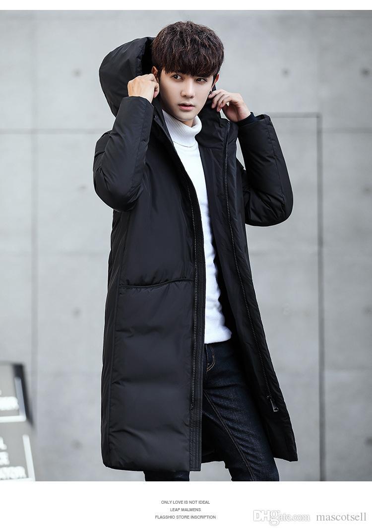 low priced d9cc9 ac514 Cappotto da uomo in piumino d'oca con cappuccio in piumino d'anatra caldo  invernale autunno-inverno