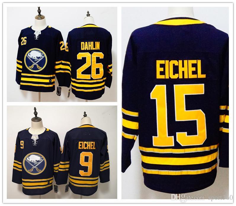 ccc5a97a417 ... sweden 2019 2018 ad buffalo sabres 9 jack eichel jersey hockey 26  rasmus dahlin blue white