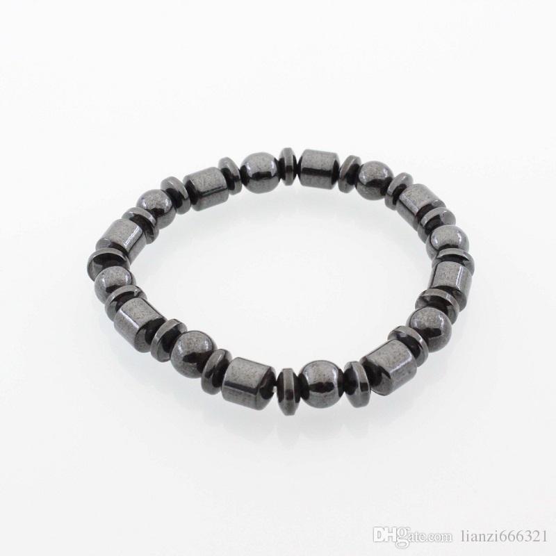 Venta caliente Nueva Hermosa Popular Piedra Negra Magnetic Magnet Pulsera Hematite Pulsera Black Stone Imán Pulsera HJ175