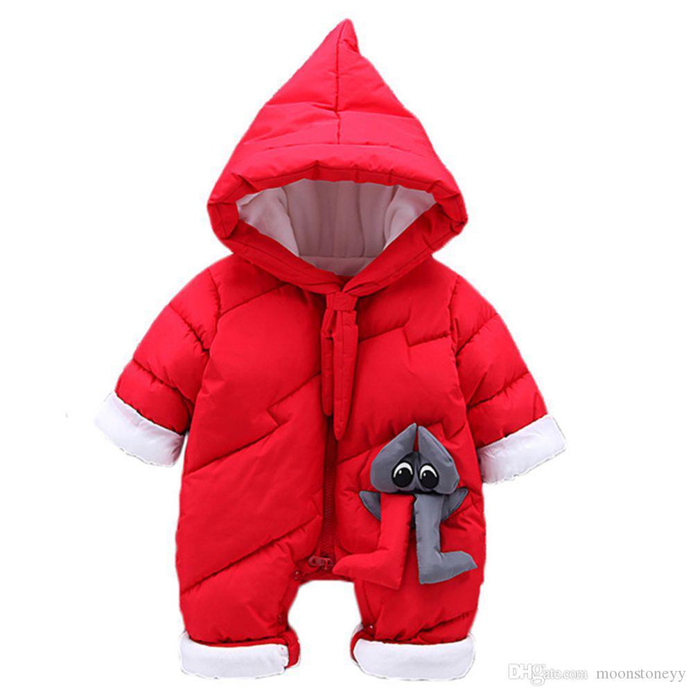 b41d93f75e28 Winter Coat Baby Boy Outerwear Thick Newborn Snowsuit Warm Girl Rompers Kids  Clothes Parkas Casaco Menina Snow Wear Bodysuit Little Girls Coat Kids  Winter ...
