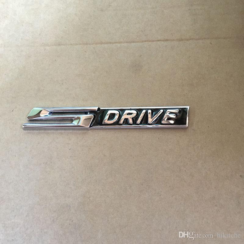 3D NEGRO Metal cromado mate Xdrive X unidad Sdrive S drive emblema insignia etiqueta Para 3 4 5 6 7 Serie X1 X3 X5 E70 X6 E71