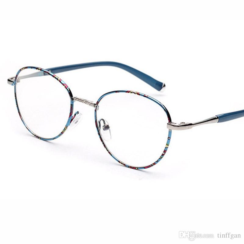 1280aa7dc9 2018 New Vintage Metal Round Eyeglasses Frame Men Women Optical Plain  Mirror Eye Glasses Frame for Myopia Glasses Oculos De Grau Eyeglasses Frame  Glasses ...