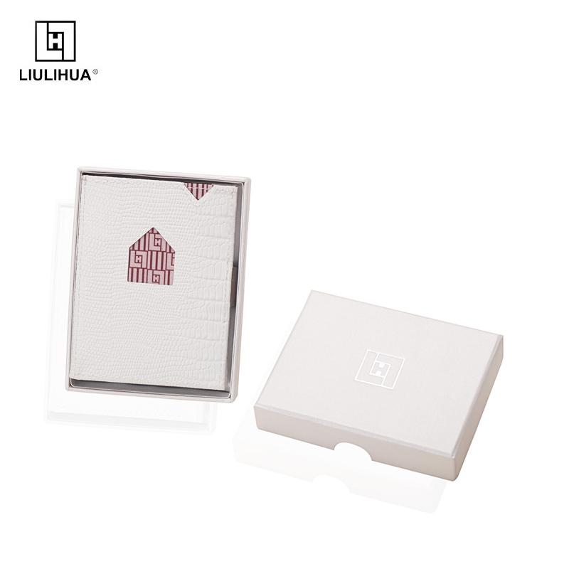 new arrival creative design wallet card holder white genuine leather unisex purse card holder