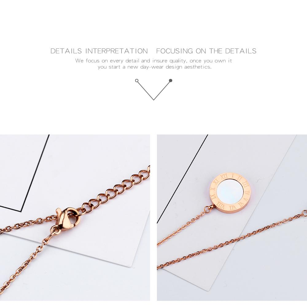 Classic Long Tassel Women Necklace Rose Gold Color Sweater Pendants & Necklaces Stainless Steel Female Jewelry Gift GX1301
