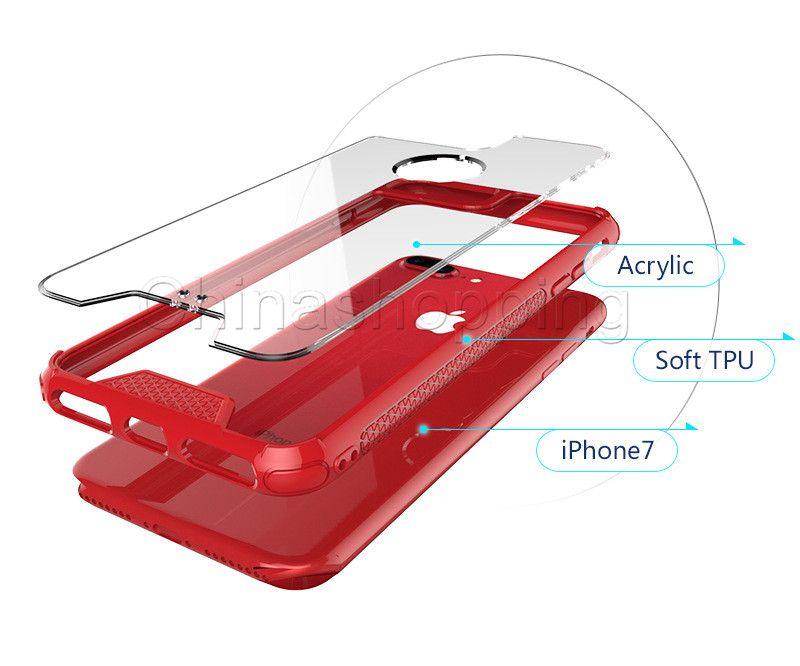 Effacer TPU + Acrylique Arrière Téléphone Cas Transparent Cas Couverture Pour iPhone X Xr Xs Max 8 7 6 6 S Plus X Xr Xs Max