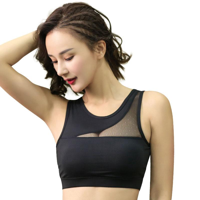 cf355e0925 2019 High Quality Sports Bra Fitness Top Yoga Bra Plus Size Tops Sport Women  Mesh Sport Gym Top Breathable Quick Dry From Pearguo