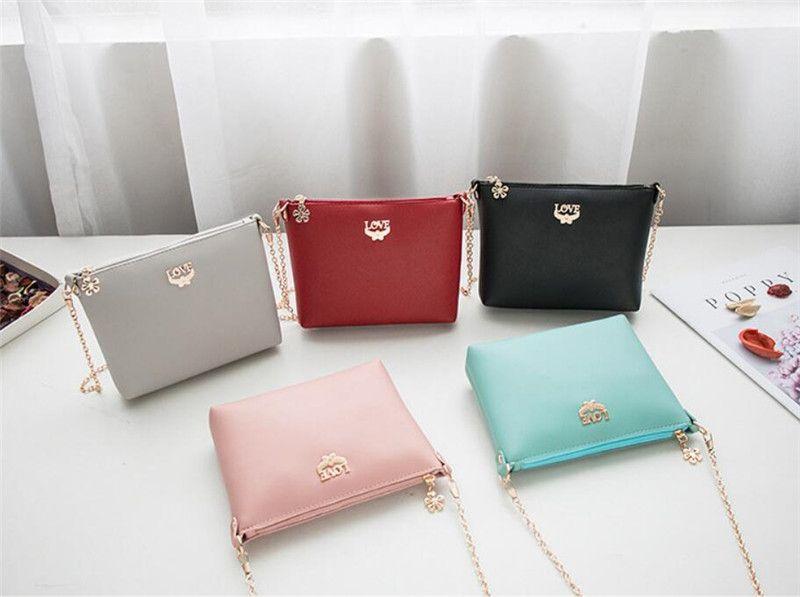 1feb0cbf4e Candy Color Small Bag Women Soft Clutch Bags Love Shoulder Bags Cute Purse  For Girl Wholesale Handbags Cheap Handbags From Hrm goods