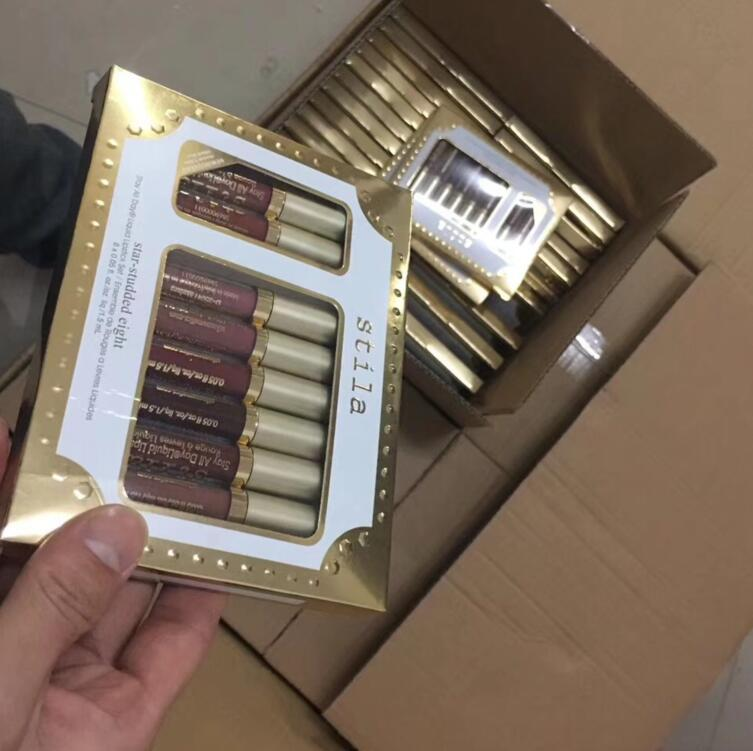 العلامة التجارية Stila Star Studded أحمر شفاه سائل ملمع شفاه مجموعة Stay All Days لونغ لاستنج كريم