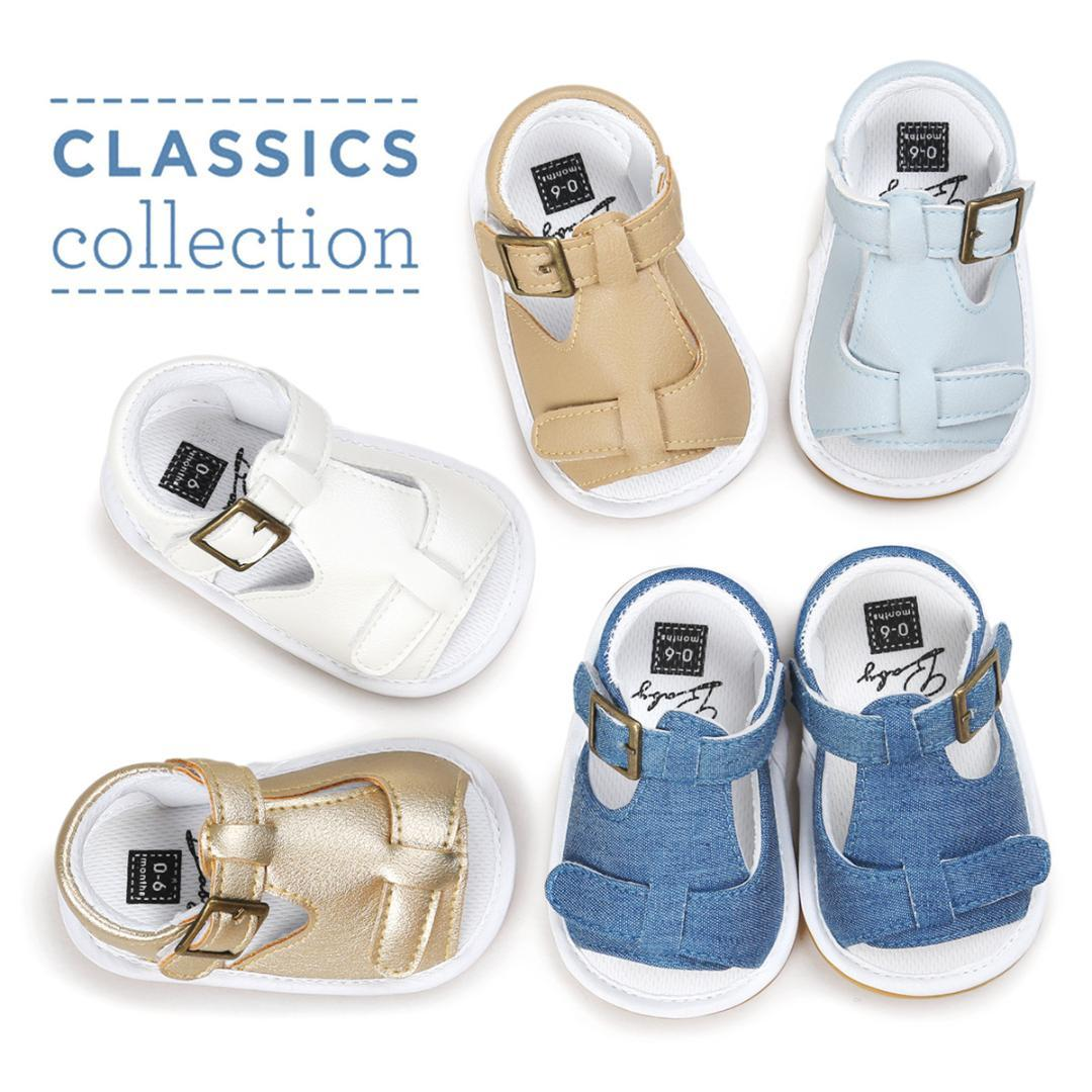 d35173473 Summer Baby Sandals Stitching Handsome Boy Baby Shoes Leather Toddler Shoes  Rubber Sole Beach Slippers Shoes Online For Kids Kids Girl Shoes From  Sightly