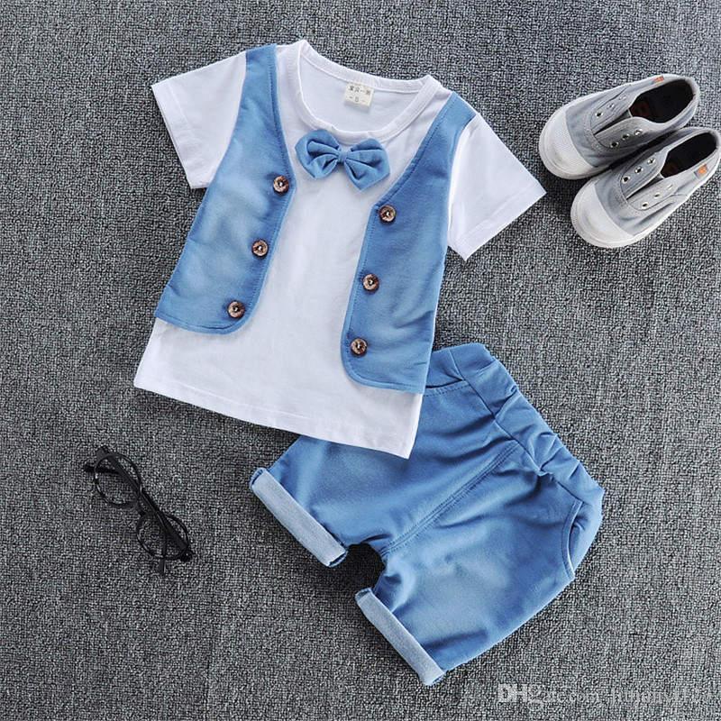 cd8bf2ebab92 2019 Baby Boys Summer Clothing Set Newborn Baby Cotton T Shirt+Short ...