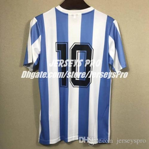 7d3808d1cd0 2019 Correct Diego Maradona Argentina World Cup 1986 Retro Soccer Jersey  Football Shirts With No Name Only Number From Jerseyspro