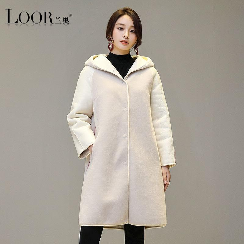 2193cb03b7 2019 Manteau Femme 2017 New White Long Dress Real Fur Wool Coat Winter Take  A Hat Thick Hooded High Quality Women Lamb Fur Coats From Cety, $279.8 |  DHgate.