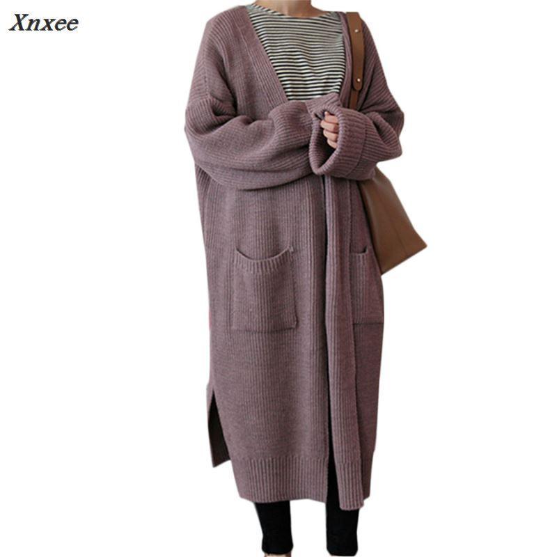 Reasonable 2019 Female Women Cardigan Wholesale Knitwear Long Winter Coat Oversize Sweater Cape Poncho Women Autumn Cardigans Clothes Women's Clothing