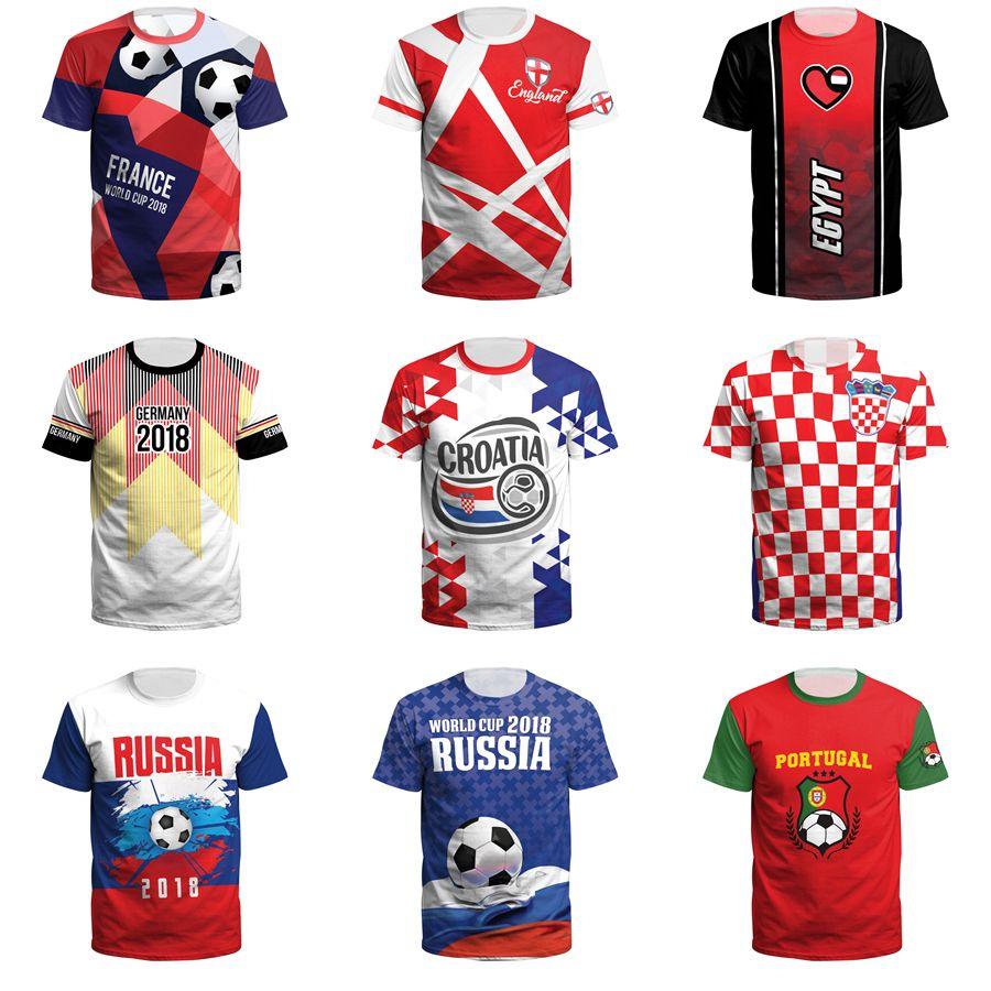 Compre Camiseta Del Mundial Camiseta Del Fútbol Del Fútbol De La Impresión  3D Camisetas Del Top Del Tamaño Extra Grande Camiseta De Manga Corta 3XL A   10.52 ... f9e447b712b67