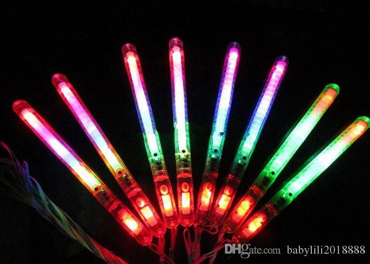 wholesales LED Flash Light Up Wand Glow Sticks Kids Toys For Holiday Concert Christmas Party XMAS Gift Birthday