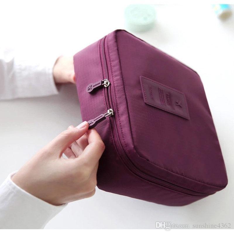 Organización de viajes para la mujer Cosmética de belleza Maquillaje Almacenamiento Bolsas de bolsos para bolsos de bolsos para dama linda Artículos de suministros Producto